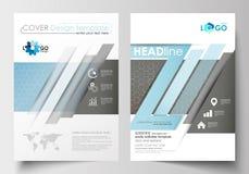 Modelli per l'opuscolo, rivista, aletta di filatoio, libretto Modello di copertura, disposizione piana nella dimensione A4 Ricerc Fotografie Stock