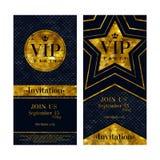 Modelli premio di progettazione delle carte dell'invito di VIP Fotografia Stock Libera da Diritti