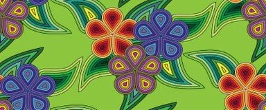 Modelli senza cuciture, astratto, floreale su un fondo verde Vettore di EPS10 Immagini Stock