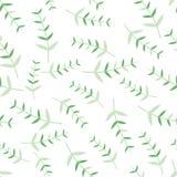 Modelli senza cuciture con gli ornamenti moderni delle foglie struttura dei ramoscelli e delle foglie Royalty Illustrazione gratis
