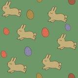 Modelli senza cuciture con i coniglietti e le uova di pasqua. Royalty Illustrazione gratis