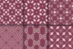 Modelli senza cuciture dalle forme geometriche Insieme degli ambiti di provenienza colorati Immagine Stock Libera da Diritti