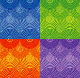 Modelli senza cuciture della corda con l'ornamento a spirale Fotografia Stock