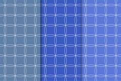 Modelli senza cuciture geometrici blu Fotografia Stock Libera da Diritti