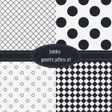 Modelli senza cuciture geometrici determinati Colori scuri e grigio chiaro Rebecca 36 royalty illustrazione gratis