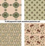 Modelli senza cuciture stile Giappone d'annata determinati Fotografie Stock Libere da Diritti