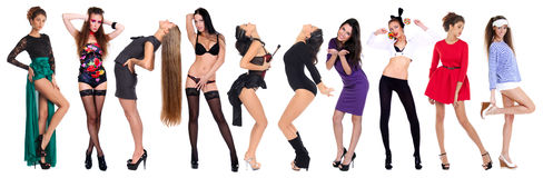 10 modelli sexy Fotografia Stock Libera da Diritti