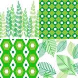 Modelli in tonalità di verde royalty illustrazione gratis