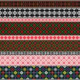 Modelli tradizionali bielorussi, ornamenti Insieme 1 Immagini Stock