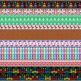 Modelli tradizionali bielorussi, ornamenti Insieme 7 Fotografia Stock