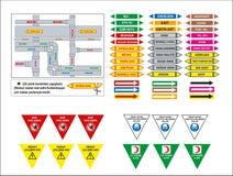 Modelli turchi del contrassegno, segno di rischio, segno proibito, segni di salute e sicurezza sul lavoro, insegna d'avvertimento royalty illustrazione gratis