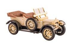 Modelli un retro cabriolet (isolato su bianco) Fotografia Stock