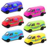 Modelli variopinti dell'automobile del giocattolo dei bambini Fotografia Stock