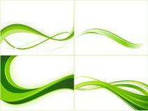 Modelli verdi della priorità bassa dell'onda di ecologia Fotografia Stock Libera da Diritti