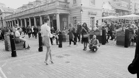 Modellieren in Covent-Garten London Lizenzfreies Stockbild
