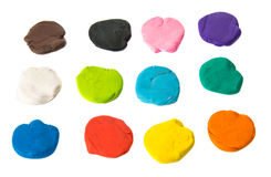 A modelling clay ball of different colors Stock Images