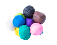 A modelling clay ball of different colors Stock Photo