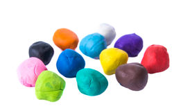 A modelling clay ball of different colors Royalty Free Stock Photos