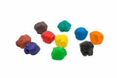 A modelling clay ball of different colors Royalty Free Stock Photo