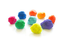 Modelling clay balls on white Royalty Free Stock Photography