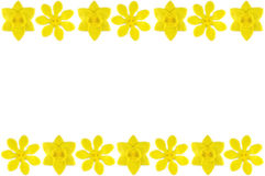Modelling clay daffodil and golden gardenia flower Royalty Free Stock Image