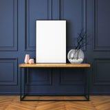 Modellinnenraum in der klassischen Art stock abbildung