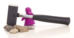 Modellistica della figura dell'argilla con una slitta Immagini Stock Libere da Diritti