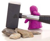 Modellistica della figura dell'argilla con una slitta Immagini Stock