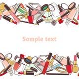 Modellmakeup- och skönhetskönhetsmedel vektor illustrationer