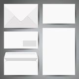 Modellmall av kuvert stock illustrationer