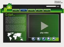 Modello 33 di disegno di Web site Immagini Stock