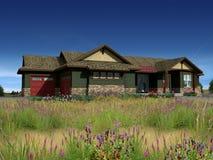 modello 3d della casa di ranch Immagine Stock