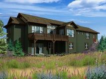 modello 3d della casa a due livelli illustrazione vettoriale