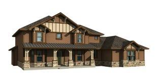 modello 3d della casa a due livelli Fotografia Stock Libera da Diritti