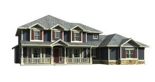 modello 3d della casa a due livelli Immagini Stock Libere da Diritti