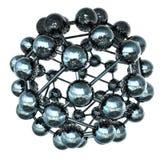 modello 3d di una molecola Fotografie Stock Libere da Diritti