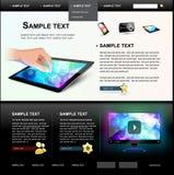 Modello 5. di Web site. Immagine Stock