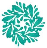 Modello acquerello - fiore astratto Immagine Stock Libera da Diritti