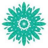 Modello acquerello - fiore astratto Fotografia Stock Libera da Diritti