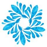 Modello acquerello - fiore astratto blu Fotografie Stock