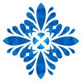 Modello acquerello - fiore astratto blu Immagine Stock Libera da Diritti