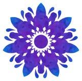 Modello acquerello - fiore astratto Blu-viola Fotografia Stock Libera da Diritti