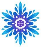 Modello acquerello - fiore astratto Blu-viola Fotografia Stock