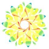 Modello acquerello - fiore astratto Colourful Fotografia Stock