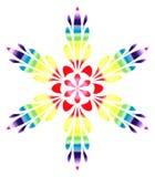 Modello acquerello - fiore astratto Colourful Fotografie Stock Libere da Diritti