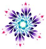 Modello acquerello - fiore astratto Colourful Fotografie Stock