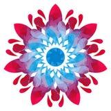 Modello acquerello - fiore astratto della Blu-rosa Fotografia Stock Libera da Diritti