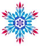 Modello acquerello - fiore astratto della Blu-rosa Immagini Stock Libere da Diritti