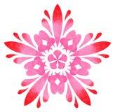 Modello acquerello - fiore astratto della rosa rossa Fotografia Stock