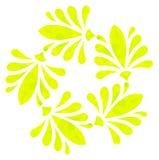 Modello acquerello - fiore astratto giallo Immagine Stock Libera da Diritti